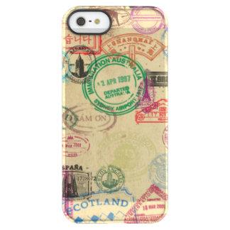 Capa Para iPhone SE/5/5s Permafrost® O passaporte do vintage carimba a caixa do
