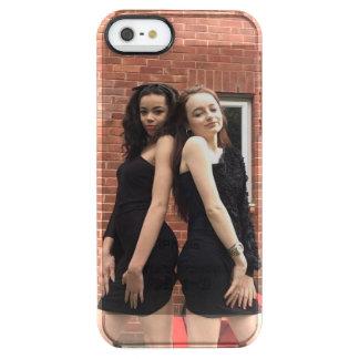 Capa Para iPhone SE/5/5s Transparente Iphone 5s das meninas de DoubleL+capa de telefone