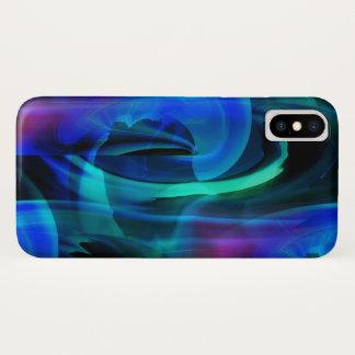 Capa Para iPhone X Abstrato azul da explosão do planeta