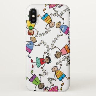 Capa Para iPhone X Amigos felizes bonitos dos miúdos dos desenhos