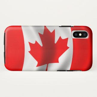 Capa Para iPhone X Bandeira canadense de ondulação