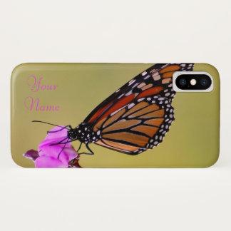 Capa Para iPhone X Beijos da borboleta