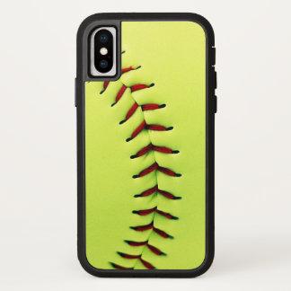 Capa Para iPhone X Bola amarela do softball