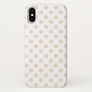 Capa Para iPhone X Bolinhas de Tan