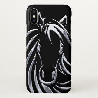 Capa Para iPhone X Cabeça de cavalo de prata