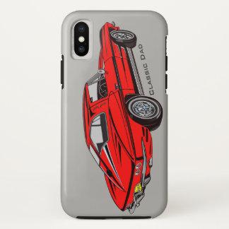 Capa Para iPhone X Caixa vermelha clássica do iPhone X do design de