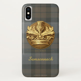 Capa Para iPhone X Cardo customizável do emblema de Scotland