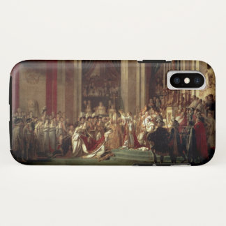 Capa Para iPhone X Coroação de Napoleon por Jacques-Louis David