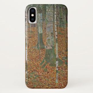 Capa Para iPhone X Floresta do vidoeiro por Gustavo Klimt, arte