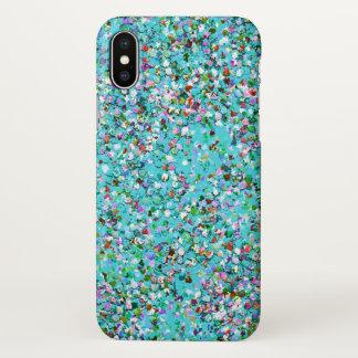 Capa Para iPhone X Forma #10 de pintura multicolorido do brilho do