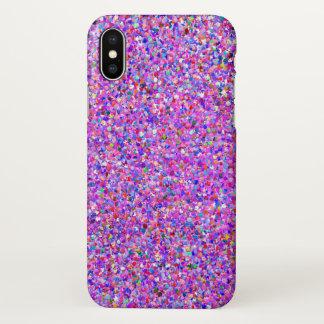 Capa Para iPhone X Forma #3 de pintura multicolorido do brilho do
