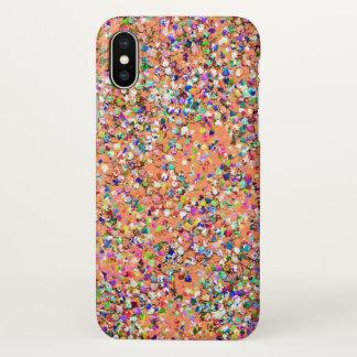 Capa Para iPhone X Forma #8 de pintura multicolorido do brilho do
