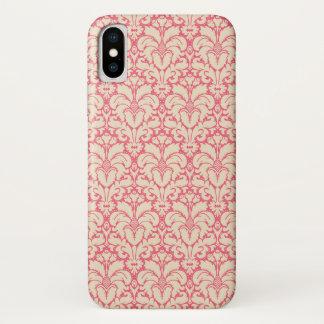 Capa Para iPhone X Fundo barroco 2 do damasco do estilo