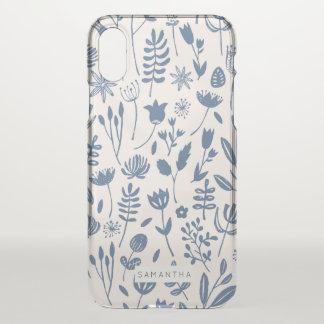 Capa Para iPhone X Impressão botânico popular