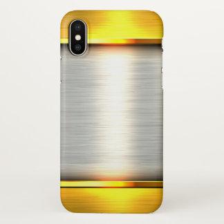 Capa Para iPhone X impressão de prata do metal do ouro