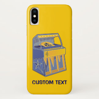 Capa Para iPhone X Jukebox retro