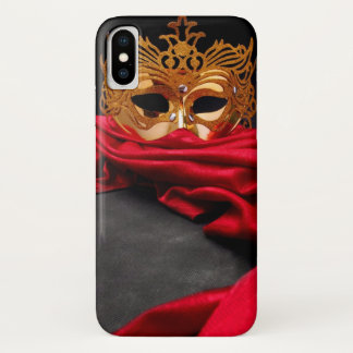 Capa Para iPhone X Máscara decorada para o mascarada no veludo