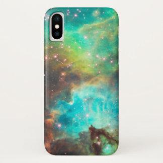 CAPA PARA iPhone X  NEBULOSA DE TURQUESA