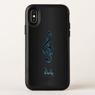Capa Para iPhone X OtterBox Symmetry Clef de triplo roxo verde Otterbox da música do