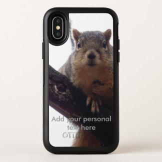 Capa Para iPhone X OtterBox Symmetry Esquilo que olha sua capa de telefone de Otterbox