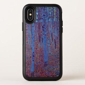 Capa Para iPhone X OtterBox Symmetry Floresta da faia por Gustavo Klimt, arte Nouveau