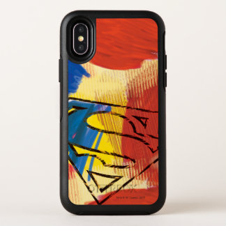 Capa Para iPhone X OtterBox Symmetry Logotipo pintado superman