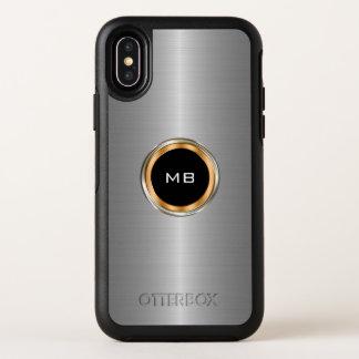 Capa Para iPhone X OtterBox Symmetry Monograma legal do profissional do negócio dos