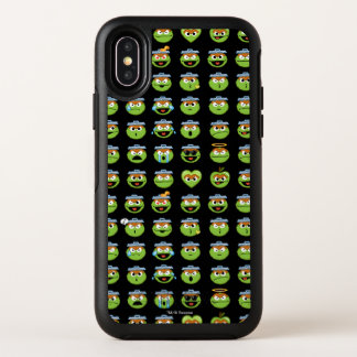 Capa Para iPhone X OtterBox Symmetry Oscar o teste padrão de Emoji do Grouch