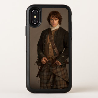 Capa Para iPhone X OtterBox Symmetry Outlander | Jamie Fraser - retrato do Kilt