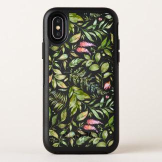Capa Para iPhone X OtterBox Symmetry Teste padrão botânico do Terrarium