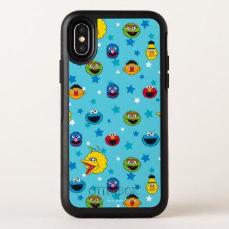 Capa Para iPhone X OtterBox Symmetry Teste padrão de estrela dos melhores amigos do
