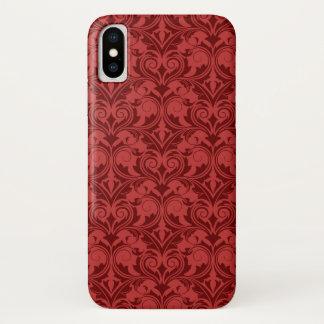 Capa Para iPhone X Papel de parede vermelho