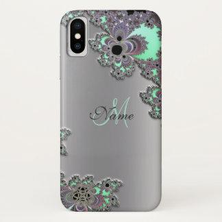 Capa Para iPhone X Personalize a caixa metálica de prata do iPhone X