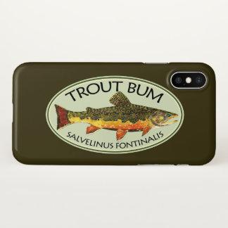 Capa Para iPhone X Pescador cómico do vagabundo da truta