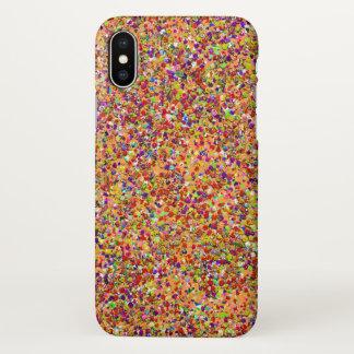 Capa Para iPhone X Pintura multicolorido da forma do brilho do grão