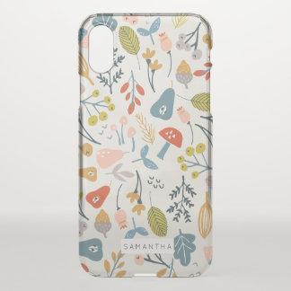Capa Para iPhone X Queda botânica