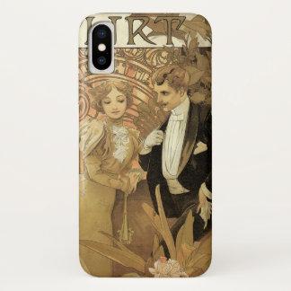 Capa Para iPhone X Romance do amor de Nouveau da arte do vintage,