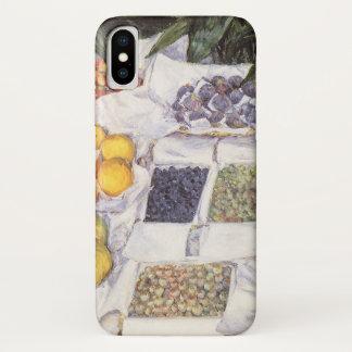 Capa Para iPhone X Suporte de fruta por Gustave Caillebotte, arte do