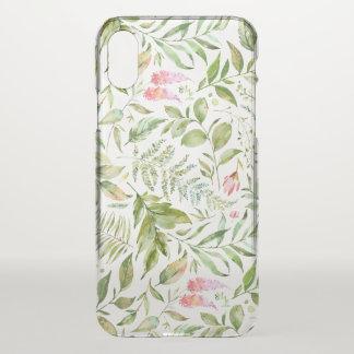 Capa Para iPhone X Teste padrão botânico do Terrarium