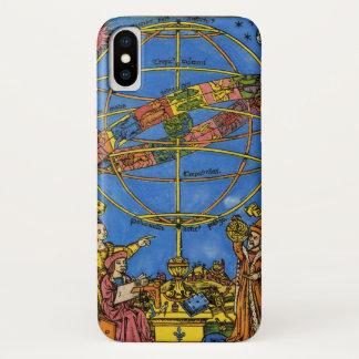 Capa Para iPhone X Vintage celestial, astrónomo Claudius Ptolemy