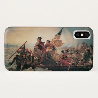 Capa Para iPhone X Washington que cruza o Delaware por Emanuel Leutze