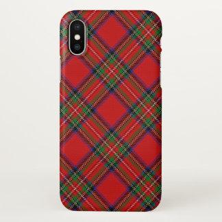 Capa Para iPhone X Xadrez de Tartan escocesa de Stewart do clã