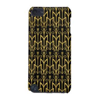 Capa Para iPod Touch 5G Design surpreendente do art deco do Preto-Ouro