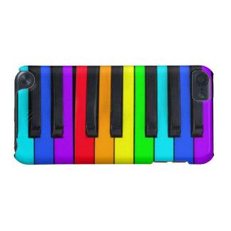 Capa Para iPod Touch 5G O espectro colore o teclado de piano