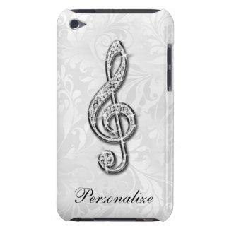 Capa Para iPod Touch Damasco floral personalizado da nota da música do