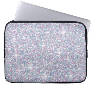 Capa Para Laptop Brilho iridescente branco