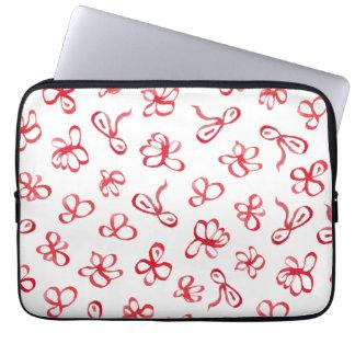 """Capa Para Laptop O vermelho da tinta floresce a bolsa de laptop 13"""""""