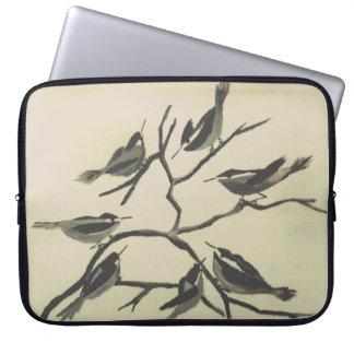 Capa Para Laptop Pássaros da tinta