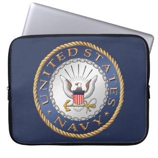 Capa Para Laptop U.S. Saco dos eletrônicos do marinho