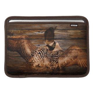 Capa Para MacBook Air Mergulhão-do-norte de madeira das aves aquáticas